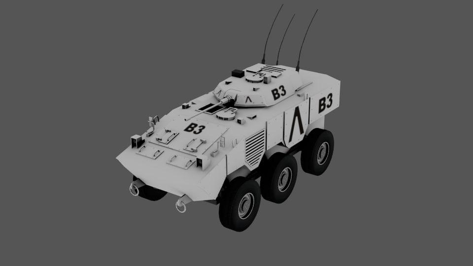 3d blindado model