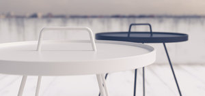 3d cane-line aluminium garden table model