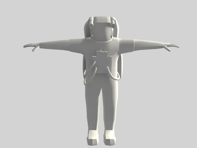 3d model astronaut