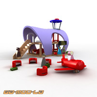 maya children wooden toy airport