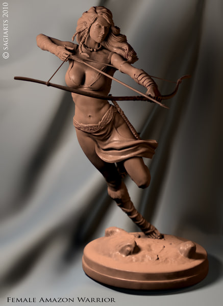 3d max warrior female