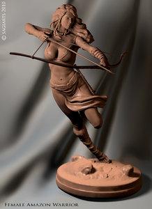 3d max warrior female