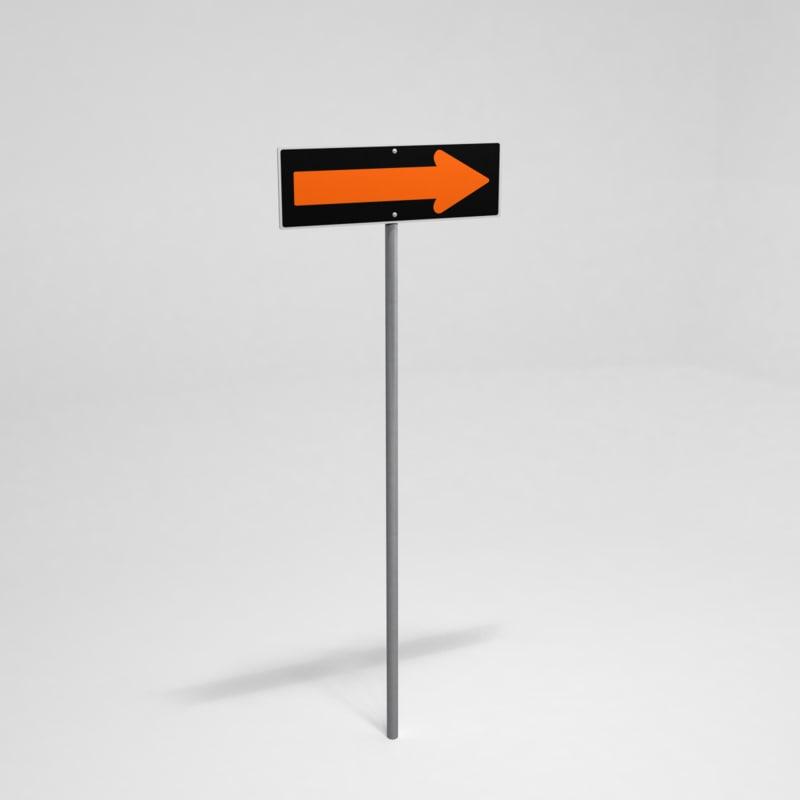 3ds max street sign detour