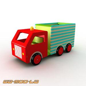 3d ren toy truck model