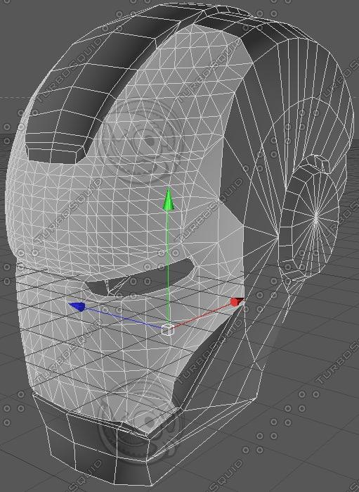robot helmet c4d