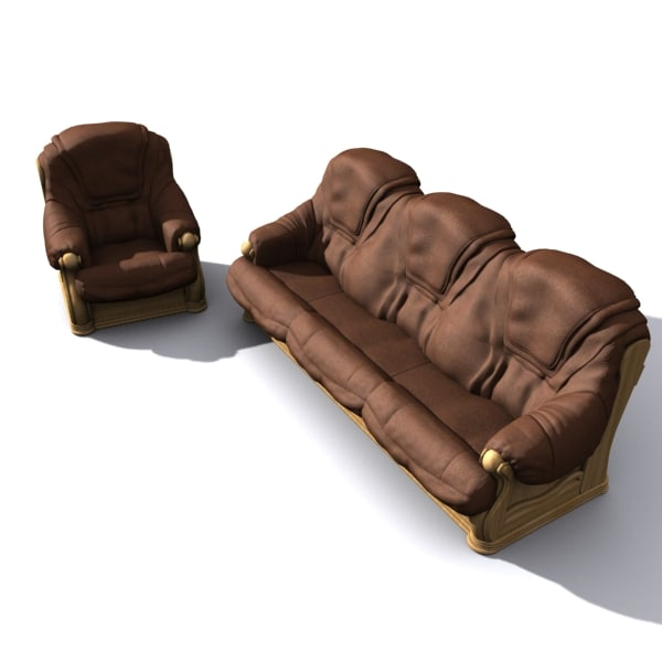 3d hi sofa couch model