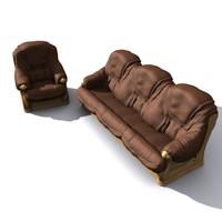 3d hi sofa couch model