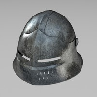 3d model sallet war helmet