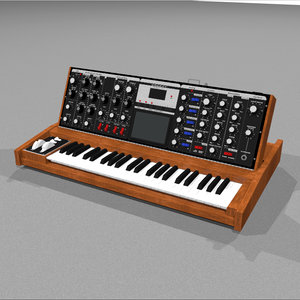 3d model keyboard synth synthesizer