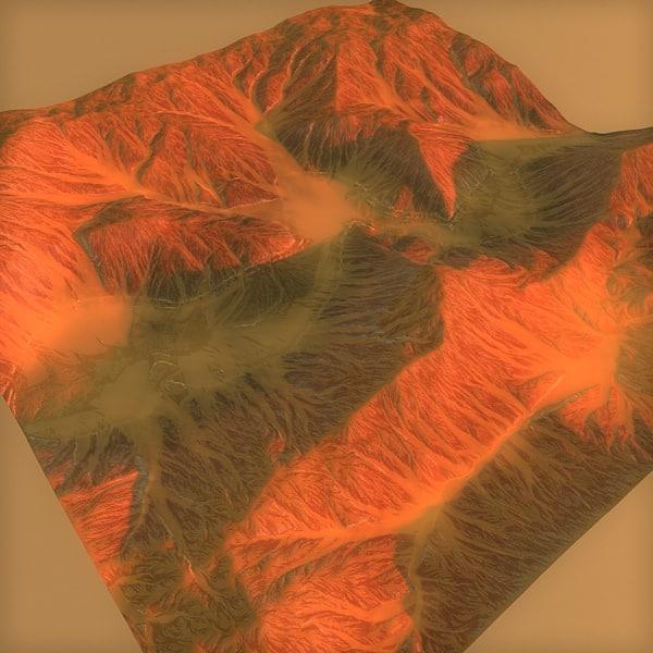 3d model terrain mars