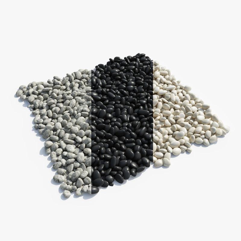 pebbles 3d dxf