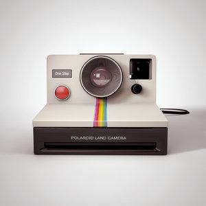 vintage polaroid step obj