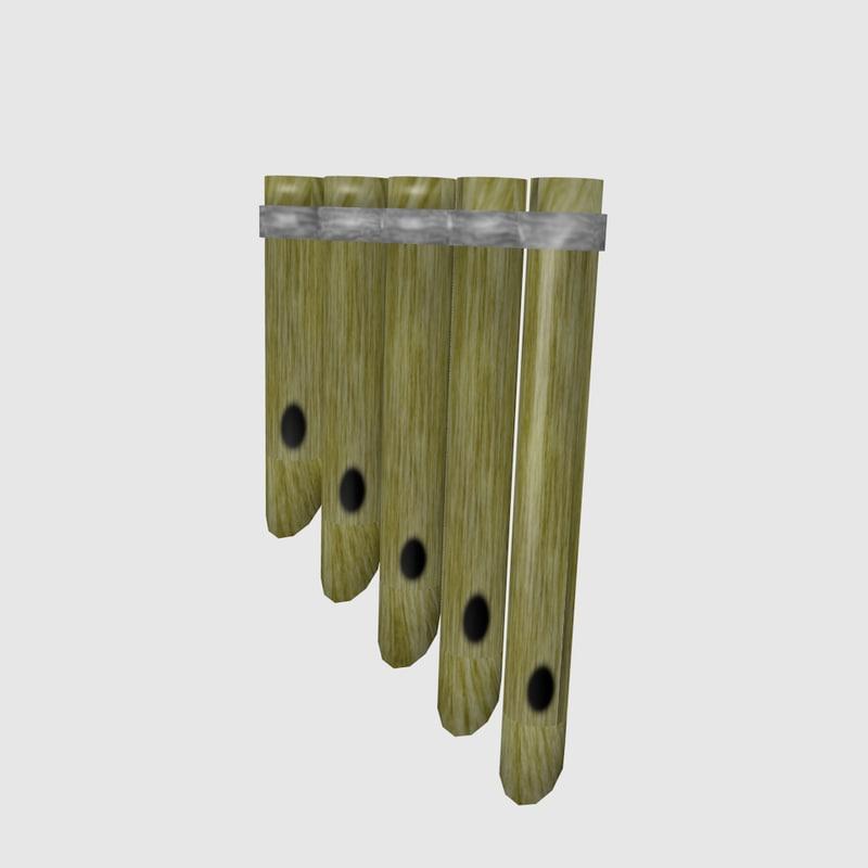 free flute indian 495inda49 3d model