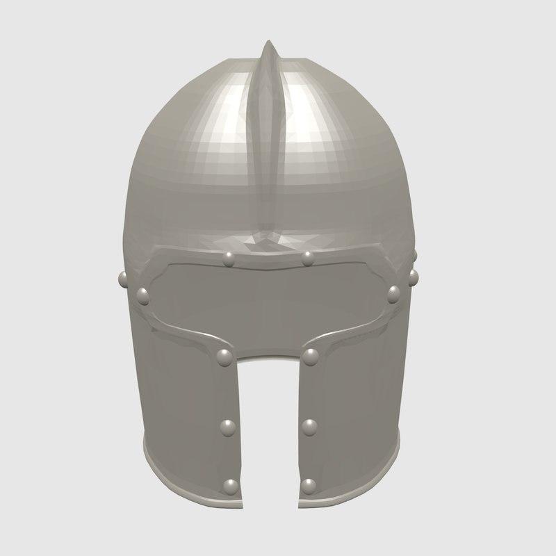 free 3ds model medieval helmet