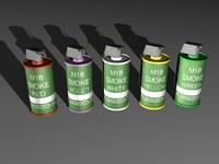 3d model of m18 smoke grenade