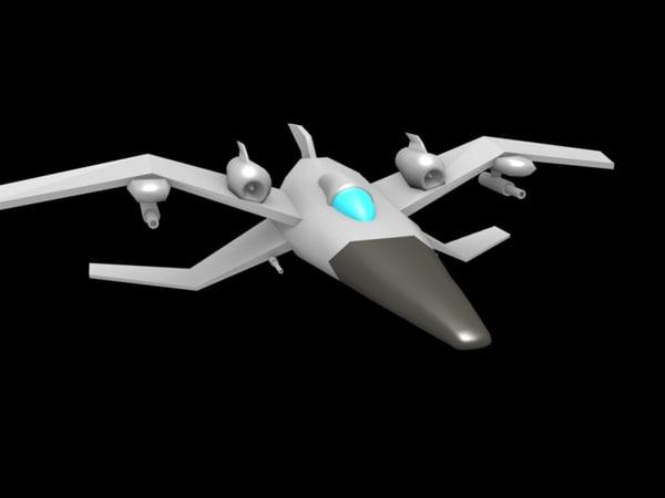 free blend model space ship