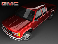 gmc c1500 mk4 cab 3d model