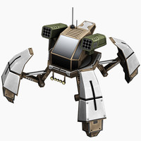 rocket mech 3d model
