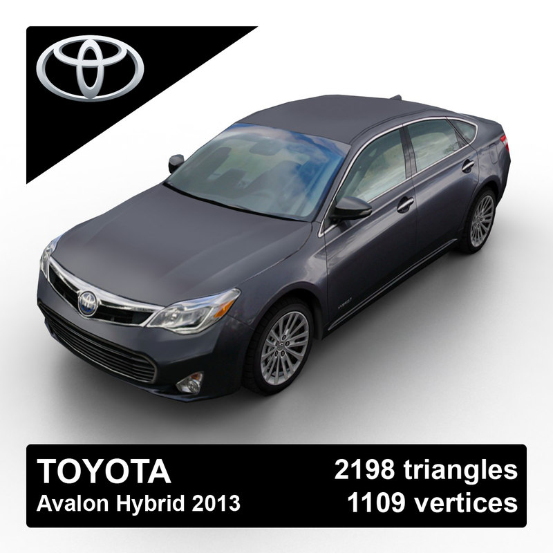 3d 3ds 2013 toyota avalon hybrid