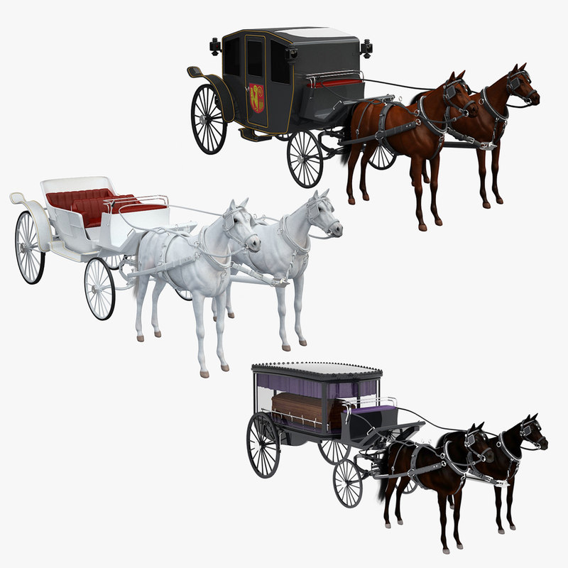 3dsmax hearse horses carriage