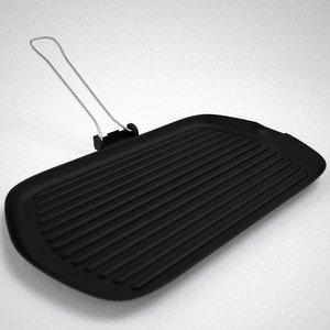 hand grill 3d model