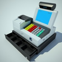 3ds max cash register