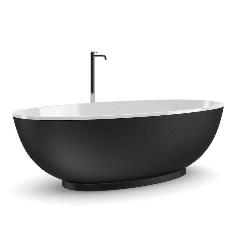 3d black bathtube