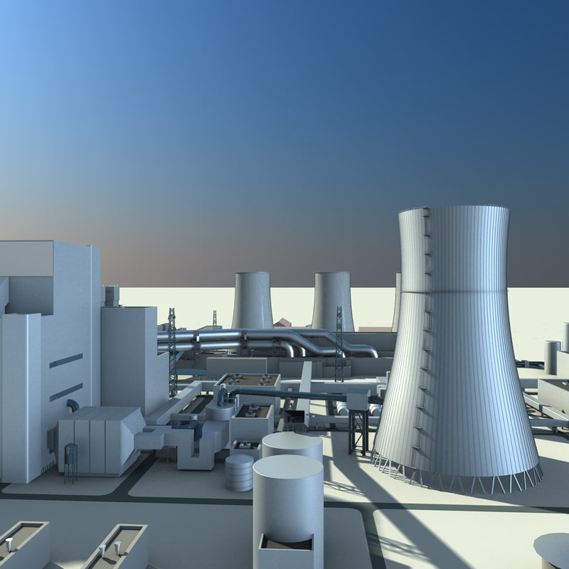 thermal power plant 3d max