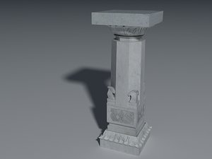 3d indian column model