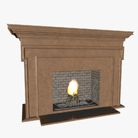 fireplace heating cooking c4d