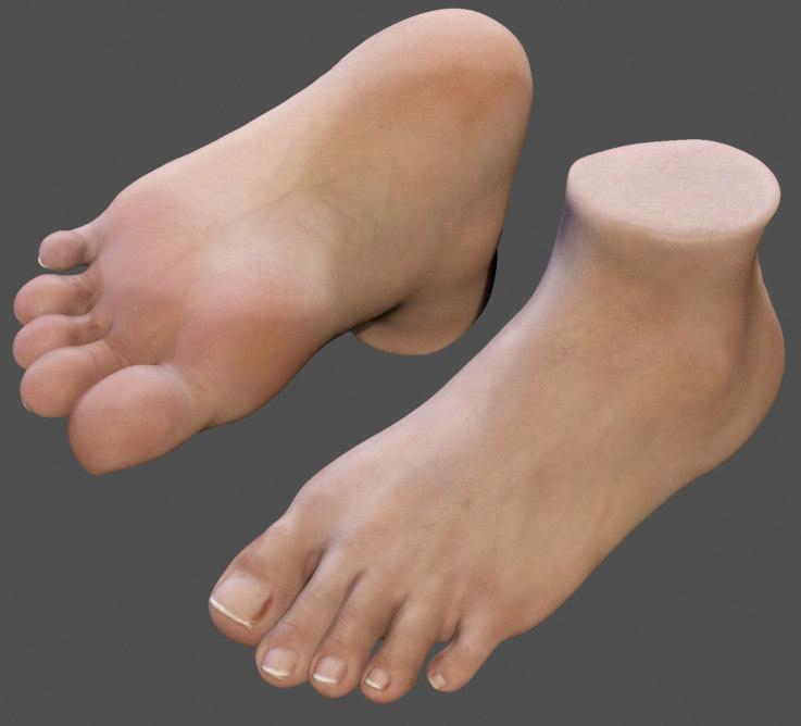 maya realistic foot