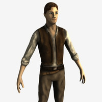 3d model male man military