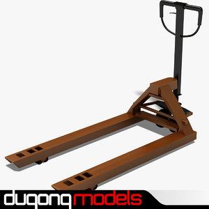 3d model hand pallet truck