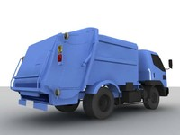 garbage truck 3d dxf