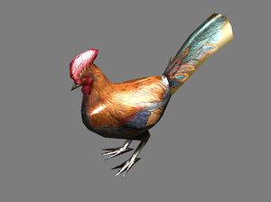 chicken rooster bird 3d max