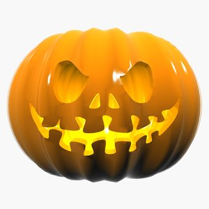 3d model of halloween pumpkin