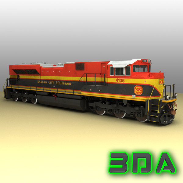 emd sd70ace locomotive engines 3d model