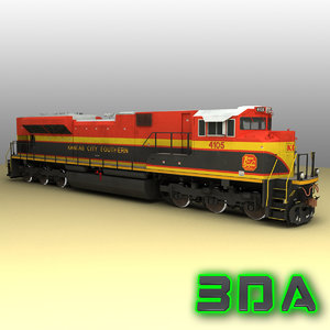 emd sd70ace locomotive engines 3d model