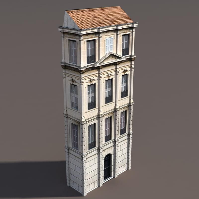3d building exterior modelled