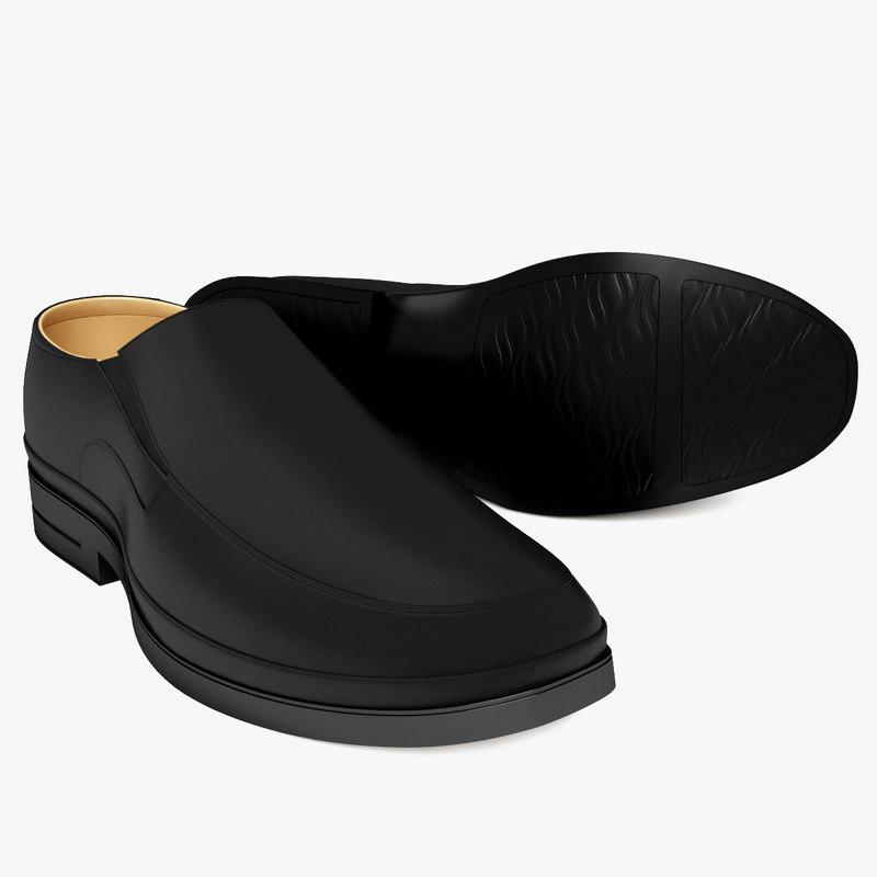 3d model shoe leather