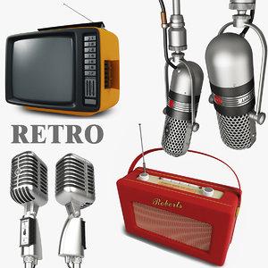 3ds max retro microphone shure