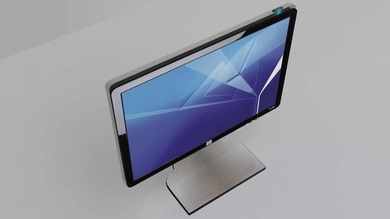 3d 3ds hp w2207h lcd monitor