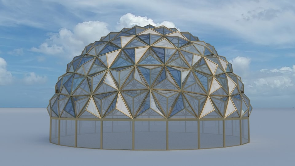 tesselation dome glass