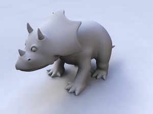 triceratops animation 3d model