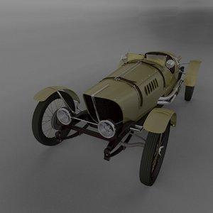 3ds max car vintage sport