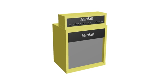 max mode low-poly marshall half stack