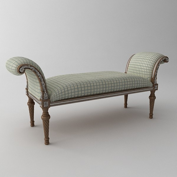3d bench classical model