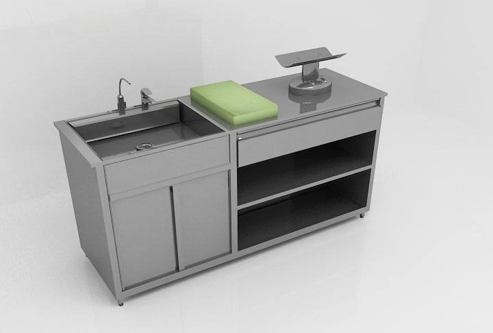 baby washing table 3d max