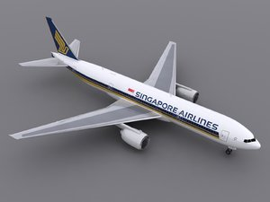3d aircraft singapore airlines model