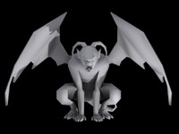 Gargoyle Lowpoly Game-ready Mobile-ready